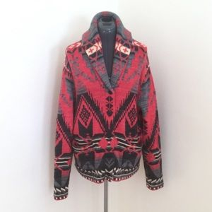 LRL Lauren Jeans Co Southwest Cardigan Sweater, XL